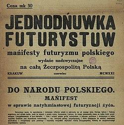 Do Narodu Polskiego Mańifest W Sprawie Natyhmiastowej