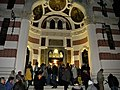 Bucuresti, Romania. Biserica Amzei, 2.10.2017. Sfantul Maslu (Enoriasi pe treptele Bisericii).jpg