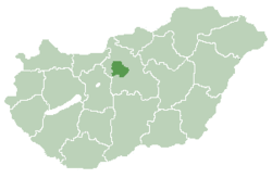 Location of Budapest in Hungary