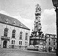 Budapest I., Szentháromság tér, Szentháromság-szobor. Fortepan 8051.jpg