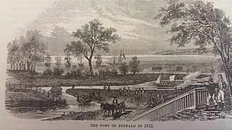 Buffalo, New York - The village of Buffalo in 1813.