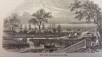 Buffalo, New York - The village of Buffalo in 1813.