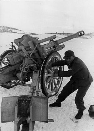 10.5 cm leFH 18M - The leFH 18M being used in Yugoslavia during World War II.