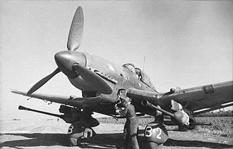 "Schlachtgeschwader 2 - Ju 87 G-2 ""Kanonenvogel"" with its twin Bordkanone BK 3.7, 37 mm guns."
