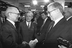 Francis J. Meehan - Meehan shaking hands with East Germany's leader Erich Honecker in 1987.