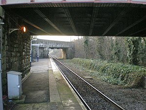 Burnley Barracks railway station - Image: Burnley Barracks Railway Station geograph.org.uk 1139757