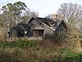Burnt-out log cabin, Hin Cheslea, New Forest - geograph.org.uk - 375100.jpg