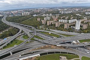 Moscow Ring Road - Image: Businovskaya traffic interchange