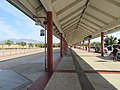 Busway canopy at North Concord Martinez station, May 2018.JPG