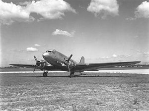 Copenhagen Airport - A Douglas Dakota, similar to the KLM aircraft that crashed in 1947.