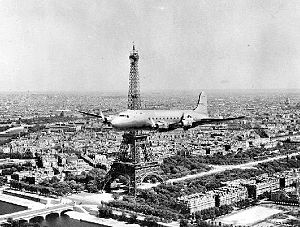 86th Airlift Squadron - MATS C-54 over Paris in the early 1950s
