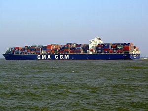 CMA CGM La Traviata IMO 9299795 , leaving Port of Rotterdam, Holland 01-Apr-2007.jpg