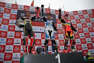 China Superbike Championship - CSBK 600cc podium at Zhuhai.