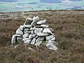 Cairn on the western brow of the Hill of Fare - geograph.org.uk - 413810.jpg