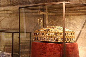 Agate Casket of Oviedo - The Agate box in the Cámara Santa (Holy Chamber) of the Cathedral of Oviedo.