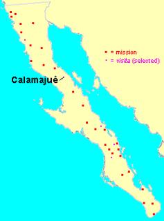 Spanish subordinate mission station in Baja California, Mexico