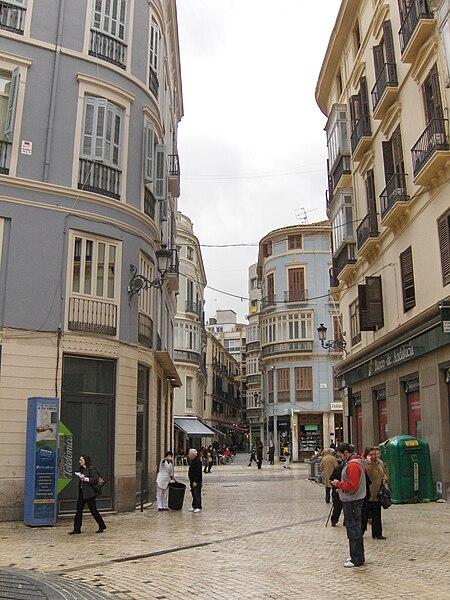 File:Calle de la Bolsa Málaga centro.jpg