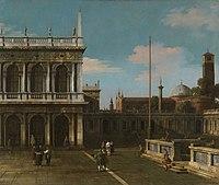 Canaletto (Venice 1697-Venice 1768) - Capriccio View of the Piazzetta with the Libreria - RCIN 405268 - Royal Collection.jpg