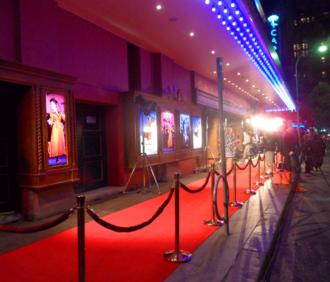 Capitol Theatre, Sydney - The red carpet outside the theatre entrance