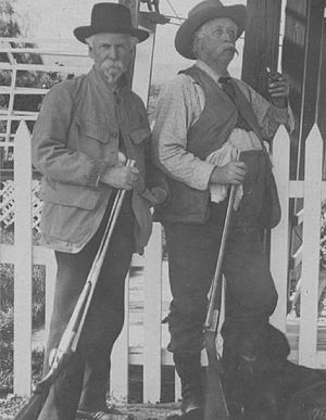 Charles T. Hinde - Captain Hinde and President William Howard Taft at Hinde's Ranch in California