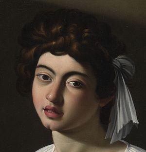 The Lute Player (Caravaggio) - Apollo Lute Player (detail)