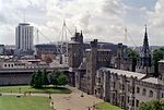Cardiff Castle and Millennium Stadium.jpg