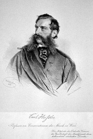 Carl Heissler - Carl Heissler, Lithography by Josef Kriehuber, 1866