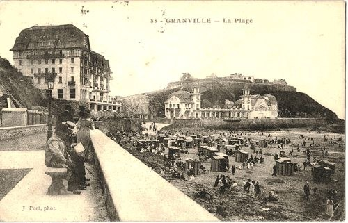 Carte-postale-granville-plage