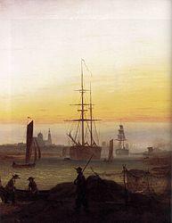 Caspar David Friedrich: Greifswaldi sadam
