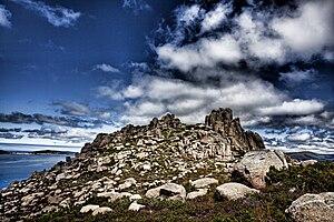 Mount Pindo - Image: Castelo de San Xurxo, O Pindo, Galicia