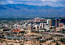 Tucson with Catalina Mountains in background