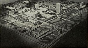 University of Illinois at Chicago - 1963 campus model and the circle interchange