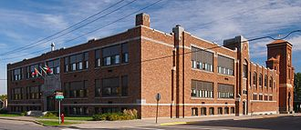 Cathedral High School (St. Cloud, Minnesota) - Cathedral High School from the south