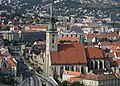 Cathedral of Saint Martin in Bratislava, view from Nový most viewpoint (cropped).jpg