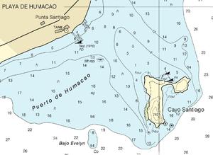 Cayo Santiago - Nautical Chart of Cayo Santiago area