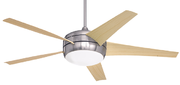 Ceiling fan with light.