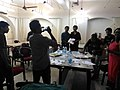 Celebration of fifty thousands images upload completion by wikipedian Biswarup Ganguli during West Bengal Wikimedians Strategy Meetup in KolkataP 20170806 125753 10.jpg