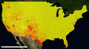 censusviewer us 2010 census latino population as a heatmap by census tract