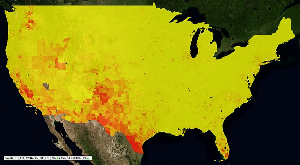 CensusViewer US 2010 Census Latino Population as Heatmap by Census Tract