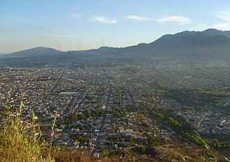 Nayarit - The state capital Tepic seen from the Cerro de la Cruz. Tepic is home to some 340,000 people.