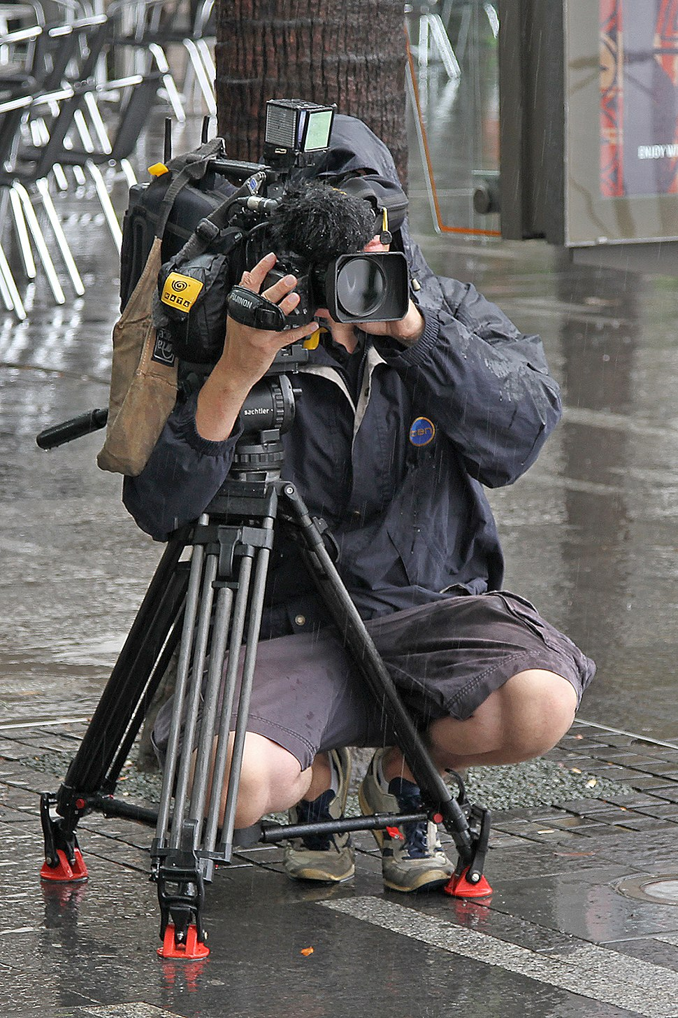 Ch10 Cameraman filming Vic Lorusso, Sydney, NSW, jjron, 01.12.2010