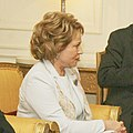 Chairperson of the Council of Federation of the Russian Federation, Mrs. Valentina Matvienko called on the President, Shri Pranab Mukherjee, in New Delhi (cropped).jpg