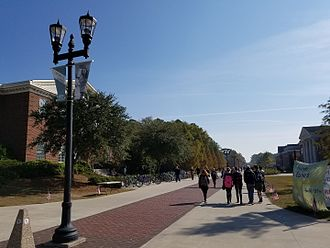 University of North Carolina at Wilmington - Chancellor's Walk, the center of campus, around midday