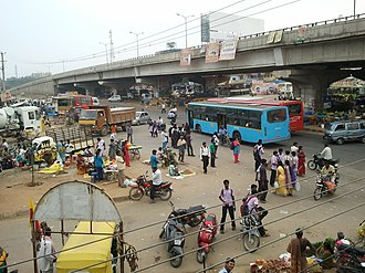 Chandapura - Image: Chandapura Bus stop towards Hosur. The flyover can be seen