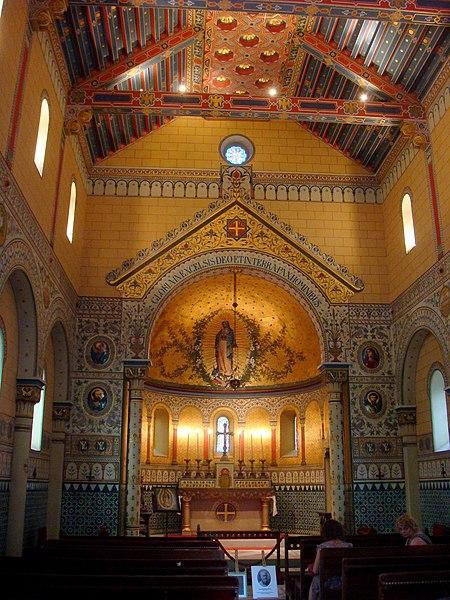 Intérieur de la chapelle impériale à Biarritz