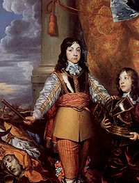 Charles II when Prince of Wales by William Dobson, circa 1642 or 1643.