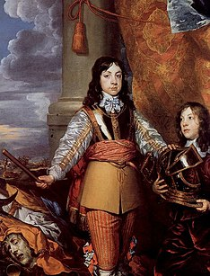 Dobson's portrait of Charles II when Prince of Wales; 1644.[72]