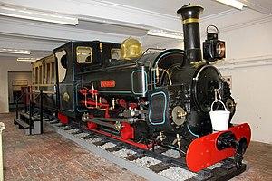 Penrhyn Quarry Railway - Main line locomotive Charles with Lord Penrhyn's saloon at the Penrhyn Castle Railway Museum