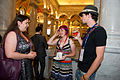 Chatting at Wikimania 2012 2.jpg