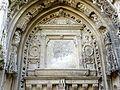Chaumont-en-Vexin (60), église Saint-Jean-Baptiste, croisillon nord, tympan du portail.JPG